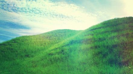 Landscapes nature grass hills sunlight photo filters wallpaper