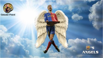 Piqué football stars blaugrana skies player blau Wallpaper