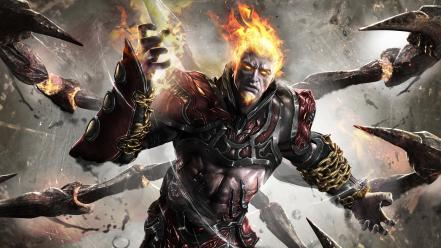 Video games god of war ares game ascension wallpaper