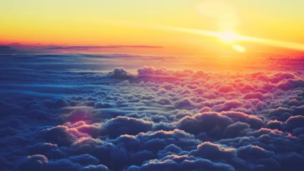 Above the clouds sunset wallpaper