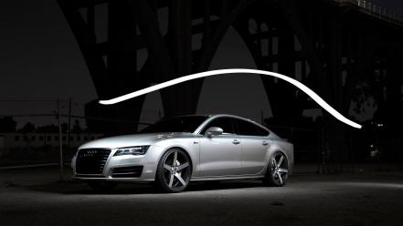 Audi a7 cars side view silver Wallpaper