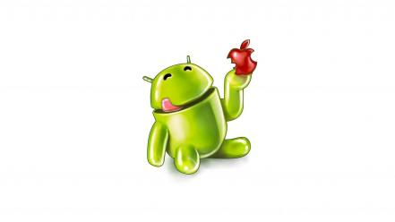Humor android technology drawings apples Wallpaper