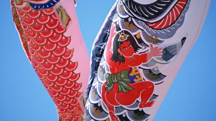 Japan japanese traditions koinobori views toys (children) wallpaper