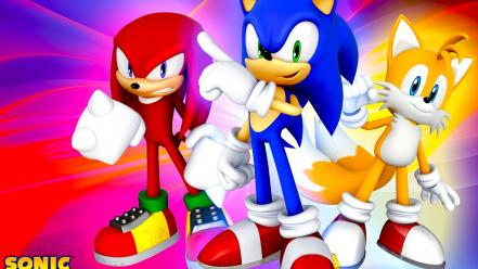 Knuckles echidna miles prower tails game characters Wallpaper