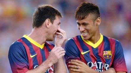 Lionel messi and neymar barcelona Wallpaper