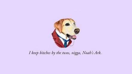 Minimalistic quotes dogs Wallpaper