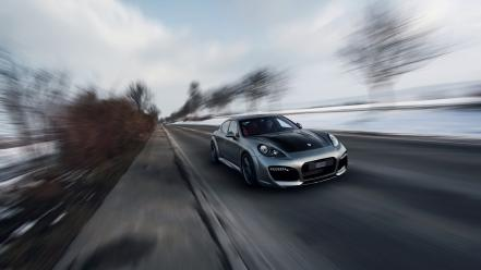 Motion panamera turbo porsche techart cars wallpaper