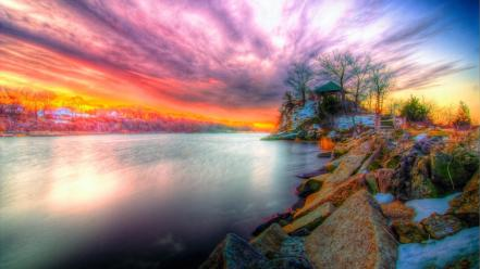 Nature riverside the river hdr photography rivers wallpaper