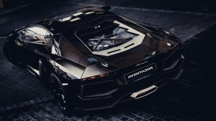 Aventador black Wallpaper