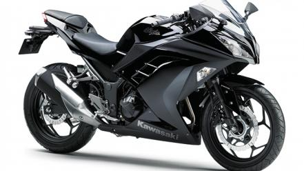 Black kawasaki ninja 300 wallpaper