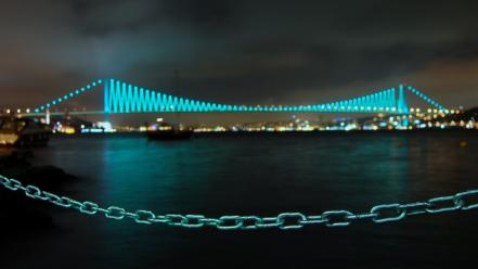 Bosphorus bridge istanbul turkey bridges chains Wallpaper