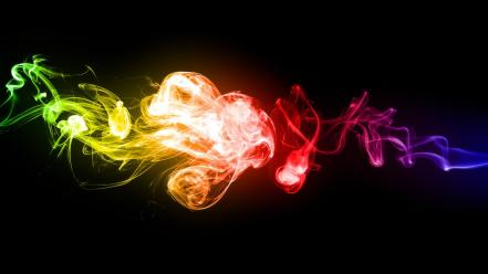 Colorful smoke backgrounds wallpaper