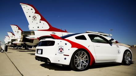 Ford mustang gt thunderbirds us air force cars wallpaper