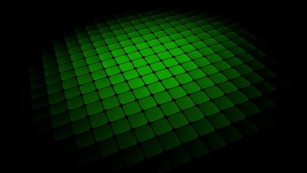 Green abstract minimalistic squares black background wallpaper