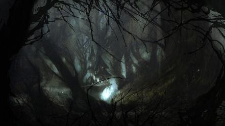 John dickenson artwork digital art fantasy forests wallpaper