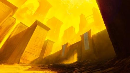 Magic: the gathering noah bradley arches artwork buildings wallpaper