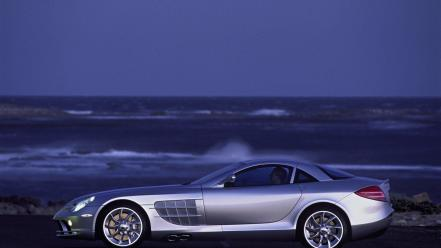 Mercedes-benz mercedes slr class side view silver cars wallpaper