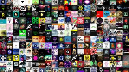 Music collage electronic Wallpaper