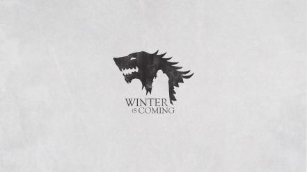 Of thrones house winter is coming wall wallpaper