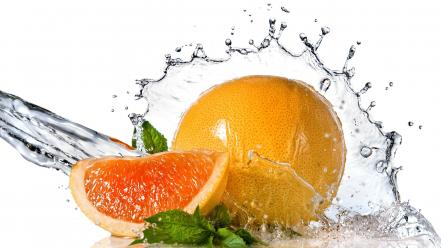 Orange fruit water splash wallpaper