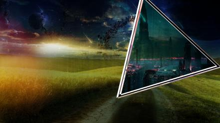Portal landscapes lost triangle wallpaper