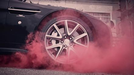 Red cars smoke genetikk wallpaper