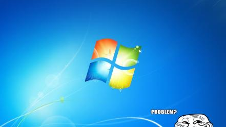 Windows 7 funny trollface trolling wallpaper