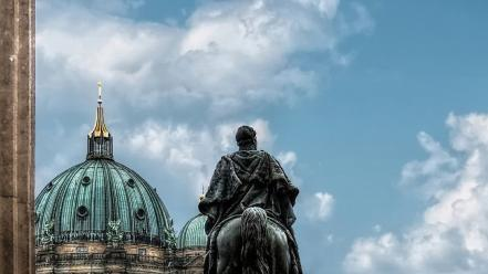 Architecture berlin statues cathedral hdr photography wallpaper