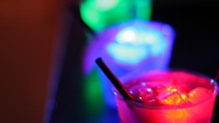Bar cocktail lighting colors night club neon lounge wallpaper