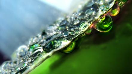 Bubbles green split-view tilted view water wallpaper