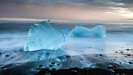 Icebergs landscapes nature wallpaper