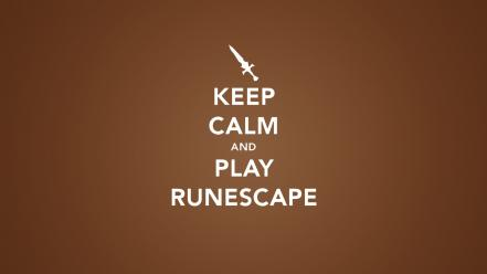 Keep calm and runescape typography wallpaper
