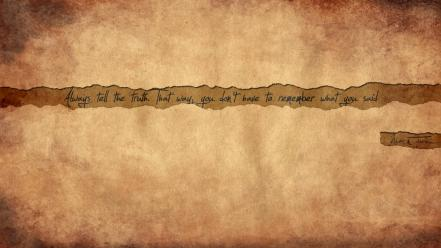Mark twain huckleberry finn old paper quotes truth wallpaper