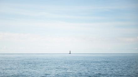 Nature minimalistic lighthouses sea wallpaper