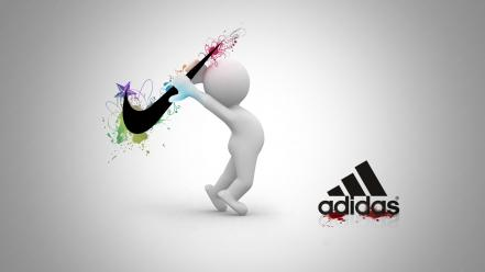 Nike adidas creative wallpaper