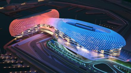 Abu dhabi hotel architecture stadium wallpaper