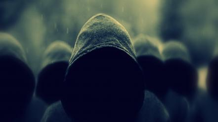 Anonymous activism hoodies rain wallpaper