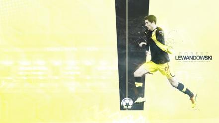 Bundesliga robert lewandowski borussia dortmund football players soccer wallpaper