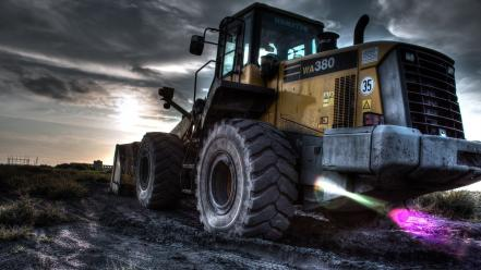 Hdr photography komatsu wa380 vehicles wallpaper