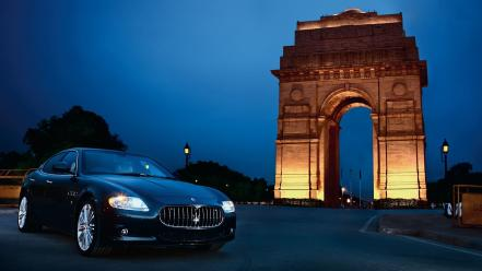 India maserati quattroporte cars gate wallpaper