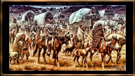 Robert lindneux the trail of tears artwork wallpaper