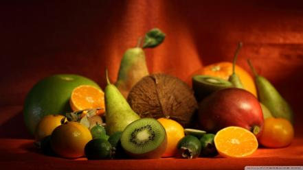 Apple delicious display fruits kiwi wallpaper