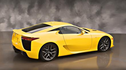 Lexus lfa cars vehicles yellow Wallpaper