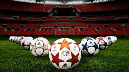 Soccer balls wallpaper