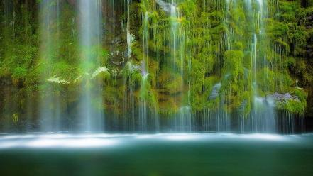 California mossbrae falls green landscapes moss wallpaper