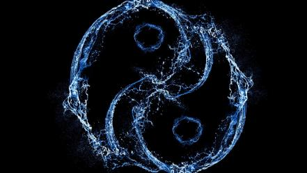 Harmony splashes yin yang Wallpaper