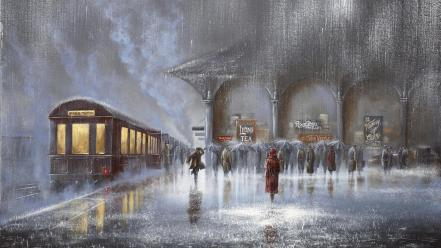 Jeff rowland arches artwork lovers paintings Wallpaper