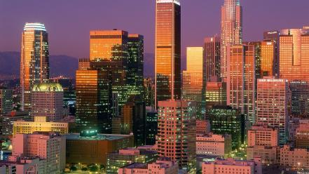 Los angeles cities cityscapes skyscrapers Wallpaper