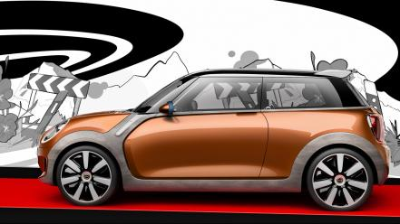 Mini cars design static vision wallpaper