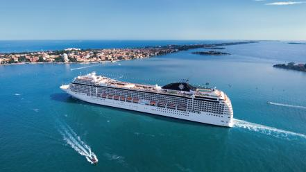 Msc cruise ship musica ships wallpaper